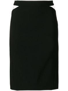 юбка с сетчатыми прорезями Mugler
