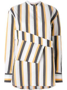 полосатая рубашка без воротника Ports 1961