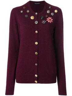 кардиган с отделкой пуговицами  Dolce & Gabbana