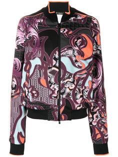 куртка-бомбер с принтом  Versace