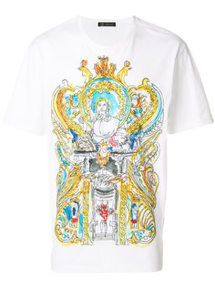 футболка с принтом в греческом стиле Versace