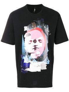 футболка с принтом лица Versus