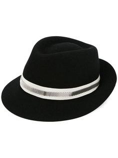 шляпа-федора с контрастной лентой Lanvin
