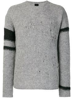 свитер с контрастными вставками на рукавах Thom Krom