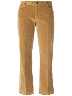 укороченные бархатные брюки  Prada