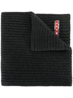 узкий шарф в рубчик Prada