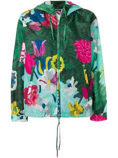 легкая куртка с цветочным принтом Prada x K-Way Prada