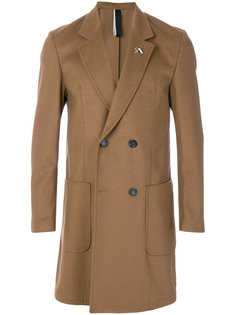 двубортное пальто Low Brand