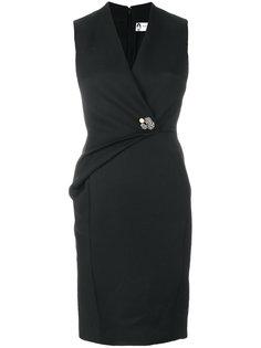 платье с декоративной складкой Lanvin