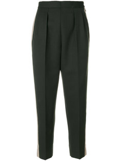 укороченные брюки с полосками  Maison Margiela
