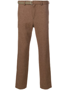 брюки с поясом Herringbone  Sacai