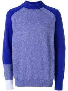 свитер с панельным дизайном Sacai