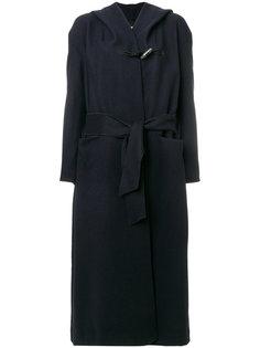 длинное пальто с капюшоном  Forte Forte