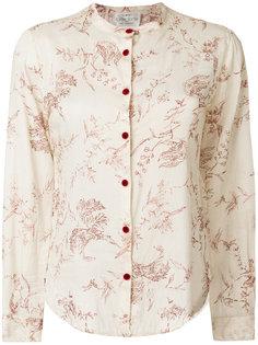 блузка с узором листьев Forte Forte