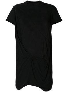 футболка с драпировкой  Rick Owens DRKSHDW
