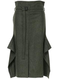 юбка мини с поясом и оборками Nehera