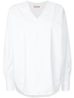 oversized curved hem blouse Nehera