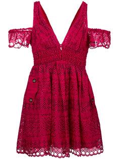 платье с английской вышивкой Self-Portrait