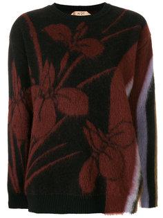 джемпер с цветочным узором Nº21