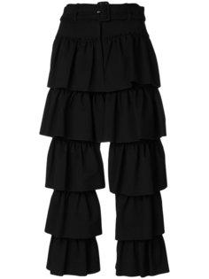 укороченные многослойные брюки с оборками Simone Rocha