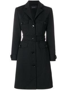 приталенное однобортное пальто  Simone Rocha