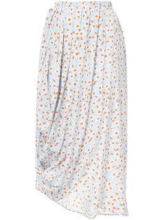 юбка с драпировкой и цветочным принтом Nehera