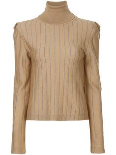 свитер в полоску с высокой горловиной Nehera