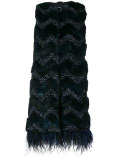 жилетка с вышивкой Ainea