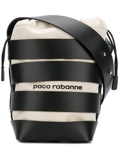 полосатая сумка-ведро Paco Rabanne