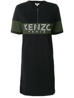 платье футболочного кроя с принтом Kenzo
