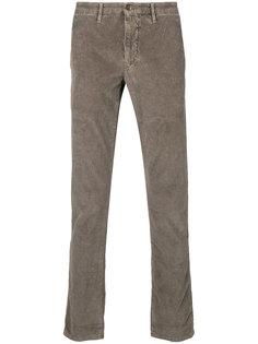 вельветовые брюки прямого кроя Incotex