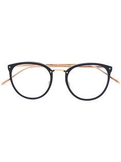 очки в круглой оправе Linda Farrow Gallery