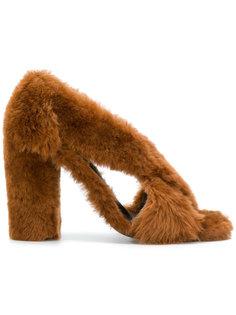 босоножки с открытым носком Jil Sander