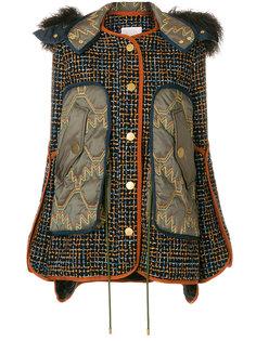 твидовая куртка с цигейкой  Peter Pilotto