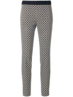 patterned elasticated trousers Via Masini 80