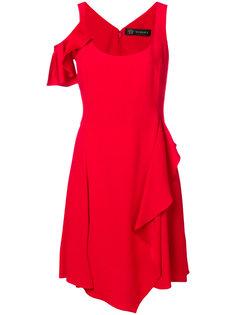 асимметричное платье с оборками  Versace