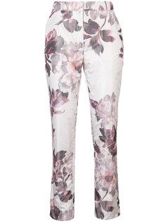 брюки-дудочки с цветочным принтом Brock Collection