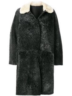 А-образное пальто с цигейкой  Sofie Dhoore
