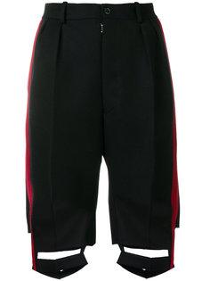 строгие шорты с вырезами  Maison Margiela