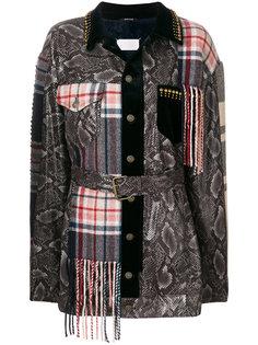 приталенное пальто в стиле пэчворк  Maison Margiela