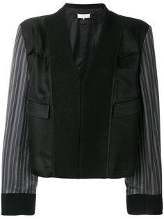 приталенная куртка с контрастными рукавами  Maison Margiela