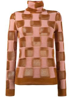 ажурный свитер с клетку  Marni