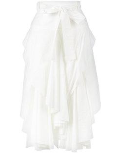 юбка асимметричного кроя с рюшами спереди Kitx