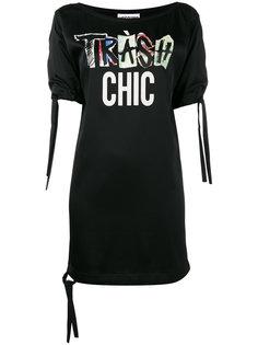 платье-футболка с принтом Tres chic Moschino