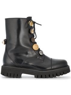 байкерские ботинки с пуговицами-монетками Dolce & Gabbana
