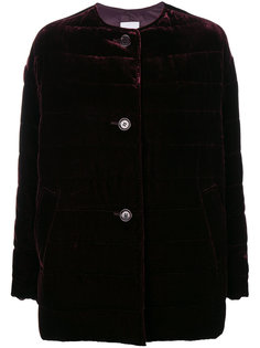 дутое бархатное пальто  Aspesi