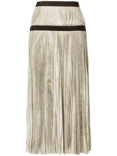 плиссированная юбка с двойным поясом Alexander McQueen