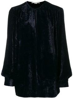 бархатная блузка с прорезью Stella McCartney