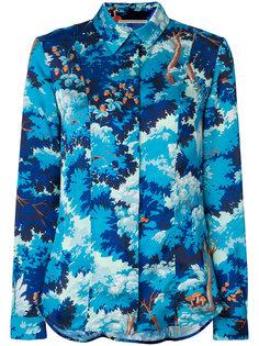 рубашка с лесным принтом  Marco De Vincenzo