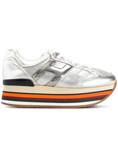 кроссовки на платформе с логотипом Hogan